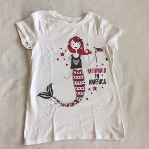Fourth of July girls tee
